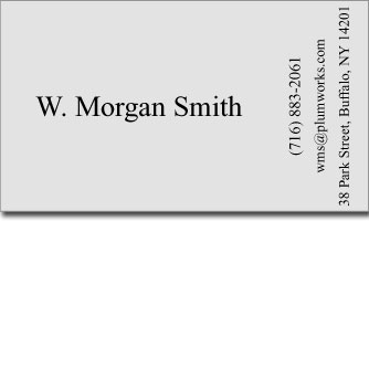 W. Morgan Smith's Business Card