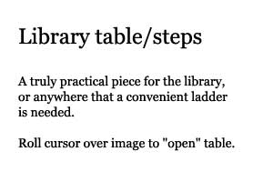 Text description of Library table/steps.