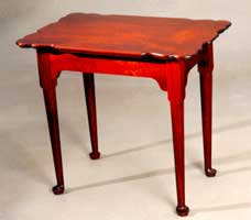 Image of Queen Anne end table.